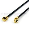 RA U.FL Male to RA U.FL Male Cable 0.113 Coax in 6 Inch -- SCC0201-06 -Image