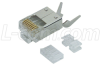 Category 6 Rated RJ45 Crimp Plug (8X8) - Shielded - Pkg/50 -- TDS8PC6