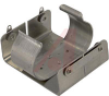 Battery Holder; D; 1.187 in. to 1.375 in.; Aluminum; Nickel Plated; PC Mount; 2 -- 70182571 - Image