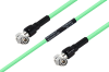 Temperature Conditioned TNC Male Right Angle to TNC Male Right Angle Low Loss Cable 60 Inch Length Using PE-P300LL Coax -- PE3M0243-60 -- View Larger Image