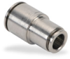 Push-to-Connect Air Fitting: straight reducer, 1/2 & 3/8 inch tubing -- UR12-38-SS - Image