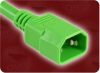 1' 17 + 1.0mm/3 SJTW 105C + H05VV-F GREEN ICC IEC-60320-C14 GREEN TO IEC-60320-C13 GREEN POWER CORD -- 3500.012GN
