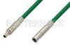 75 Ohm Mini SMB Plug to 75 Ohm Mini SMB Jack Cable 36 Inch Length Using 75 Ohm PE-B159-GR Green Coax -- PE38141/GR-36 -Image