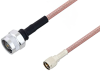N Male to Mini UHF Male Cable 24 Inch Length Using RG303 Coax -- PE3W04230-24 -Image