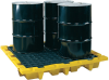 4-Drum Nestable Spill Containment Pallet -- PAL1646