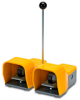 On-Off Foot Switch: double plastic pedal with yellow metal guards -- APD1213-V0-M