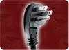 8' 14/3 SJTW 105C BLACK NACC NEMA 5-15P 45 ANGLE (5 O'CLOCK GROUND PIN) TO IEC-60320-C13 POWER CORD -- 5067.096S