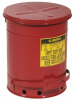 Red Steel Oily Waste Can -- CAN139 -- View Larger Image