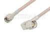 SMA Male to SMA Male Right Angle Cable 60 Inch Length Using RG316-DS Coax, LF Solder, RoHS -- PE3344LF-60 -Image