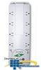 ITW Linx Premier Series 8 Outlet AC Surge Protector -- M8KSU-SURGEGATEII