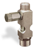 "(Formerly B1631-10X-TP), Straight Small Sight Feed Valve, 1/4"" Male NPT Inlet, 1/4"" Female NPT Outlet, Tamperproof -- B1628-443B1TW -Image"