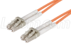 50/125, Clipped Fiber Optic Cable, Dual LC / Dual LC, 1.0m -- FODLC50-CL-01 -Image