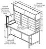Equipment Rack Workstation -- ER-108P Series
