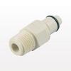 PLC12 Series Coupling Insert, Straight Thru Polypropylene In-Line Pipe Thread -- PLC2400412 -- View Larger Image