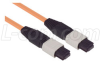 MPO Female 6 Fiber Ribbon 62.5 Multimode with OFNR Jacket, 50.0m -- MTPF06-50