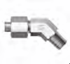 37 Flared SAE Fitting - JHME 45° Male Elbow - Image