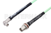 SMA Male Right Angle to TNC Female Bulkhead Low Loss Cable 12 Inch Length Using PE-P142LL Coax, RoHS -- PE3C1173-12 -Image