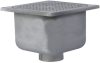 12 in. Square x 8 in. Deep Stainless Steel Sanitary Floor Sink -- FS-790 -- View Larger Image