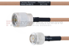 N Male to SMA Male MIL-DTL-17 Cable M17/128-RG400 Coax in 60 Inch -- FMHR0072-60 -Image