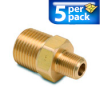 Connector Air Fitting: male, brass, for 3/8in NPT to 1/8in NPT, 5/pk -- BFMC-38N-18N -- View Larger Image