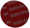 3M Scotch-Brite 7447 Pro Non-Woven A/O Aluminum Oxide AO Hook & Loop Disc - Very Fine Grade - 6 in Diameter - 65070 -- 048011-65070 - Image