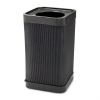At-Your Disposal Top-Open Waste Receptacle, Square, Polyethy -- 9790BL - Image