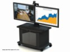 Video Furniture Int'l Package B - Dual Monitor Mount and Monitor Cart for 32