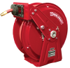Compact Dual Pedestal Spring Driven Low Pressure Air / Water Reel Series DP7000 -- DP7850 OLP