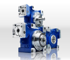 Low Duty Worm With Shaft and Hollow Outputs Right-Angle Gearbox -- alpha V-Drive economy