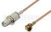 SMA Female Bulkhead to UMCX Plug Cable 3 Inch Length Using RG178 Coax -- PE38299-3 -Image