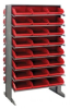 Bins & Systems - 4'' Shelf Bins (QSB Series) - Sloped Shelving Units - Double Sided Pick Racks - QPRD-109 - Image