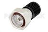 10 Watt RF Load Up to 7 GHz With 7/16 DIN Male Input Black Anodized Aluminum Heatsink -- PE6105 -Image
