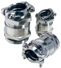 Nickel-Plated Brass Strain Relief Cable Glands with Double Saddle Clamp with Additional Sealing, PG & Metric Thread -- SKINDICHT® SKZ/SKZ-M