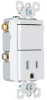 Combination Switch/Receptacle -- TM838-WCC -- View Larger Image