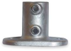 Railing Base Flange,Pipe Size 1 1/4 In -- 4NXU4
