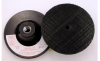 3M 05677 Hard Black Disc Pad - 4 in DIA - 1/8 in Thick - Hook & Loop Thread Attachment -- 048011-05677 -- View Larger Image
