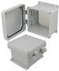 6x6x4 Inch UL® Listed Weatherproof NEMA 4X Enclosure, Non-Metal Mounting Plate, Non-Metallic Hinges -- NBN060604-KIT01 -Image