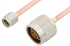SMA Male to N Male Cable 36 Inch Length Using RG402 Coax, RoHS -- PE3887LF-36 -- View Larger Image