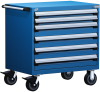 Heavy-Duty Mobile Cabinet, with Partitions -- R5BEE-3007 -Image