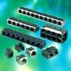 Input-Output Connectors, Modular Jack Series, Modular Jack, Multiple Port, # Contacts/ Port (Loaded)=32 -- 95672-004-00LF - Image