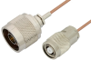 N Male to Reverse Polarity TNC Male Cable 36 Inch Length Using RG178 Coax, RoHS -- PE35241LF-36 -Image
