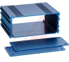 ALUM ENCLOSURE, 2 PLATES, 8 SCREWS, BLUE ANODIZED, 1.77 H X 4.27 W X 3.15 L -- 70020262