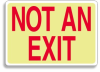 Glow-In-The-Dark Exit Sign -- SGN176 -Image