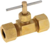 NEEDLE VALVE COMPRESSION 3/8 IN. -- IBI712122