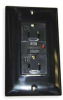 GFCI Receptacle,15A,Industrial,Black -- 2KWK3 - Image