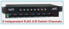 8-Channel RJ45 A/B Switch -- Model 7462