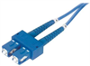 9/125, Single Mode Fiber Cable, Dual SC / Dual SC, Blue 15.0m -- SFODSC-BL-15 - Image