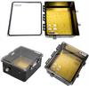 14x12x06 Polycarbonate Weatherproof Outdoor IP66 NEMA 4X Enclosure, 120 VAC MNT PLT, Mechanical Thermostat Heat Clear Lid Black -- TEBWPC141206-1H0 -Image