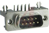 connector,d-sub,right angle pcb,.318 footprint,9 pin cont plug w/ground indents -- 70039598