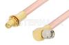 SMA Male Right Angle to SMA Female Bulkhead Cable 12 Inch Length Using RG401 Coax, RoHS -- PE34315LF-12 -Image